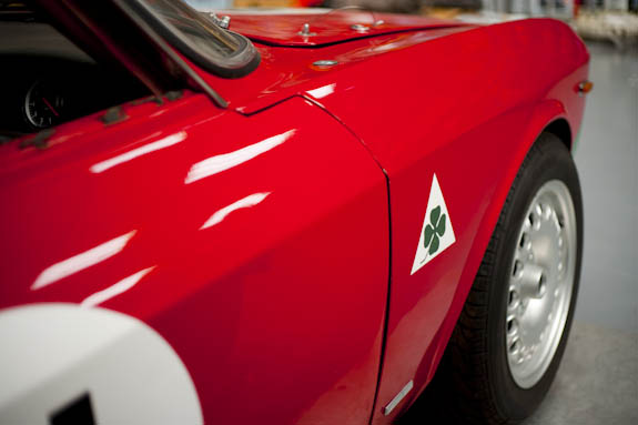 Classic Bertone lines are set off beautifully by the cloverleaf motif