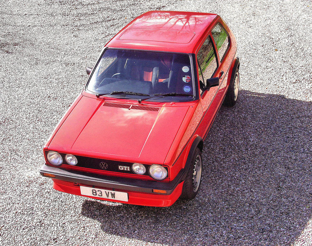 Volkswagen Golf GTi Groundbreaking hot hatch, and still sensational to drive. We'll have ours in Mars red, please