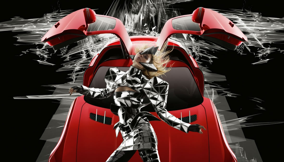 Nick Knight's and Gareth Pugh's Merc SLS AMG