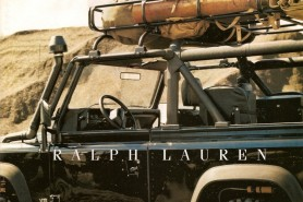The iconic and beautiful Landrover Defender features as the star itself in this campaign for Ralph Lauren footwear