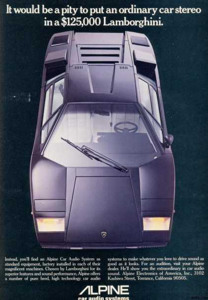 The aggressively proportioned Countach reflected the eighties' power-focused concerns