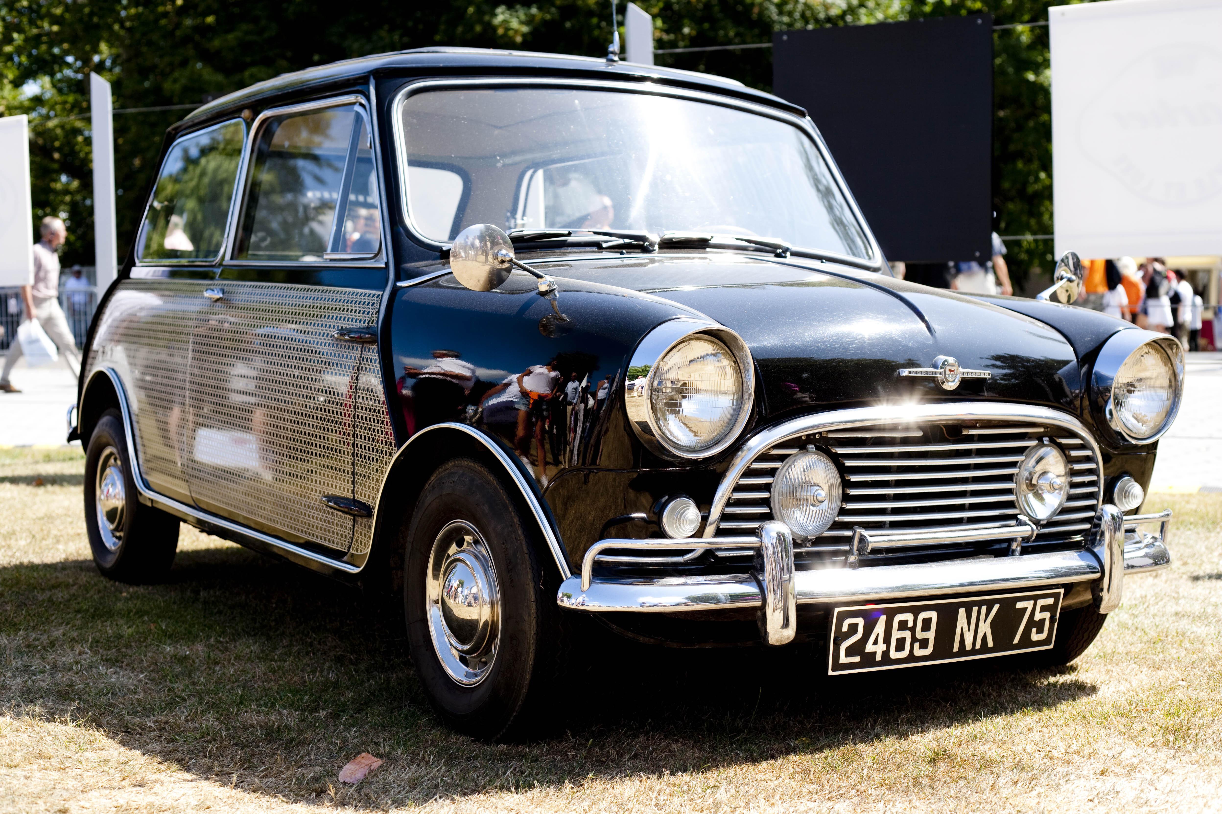 Peter Sellars's mini exemplified sixties automotive style.