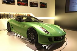 Ferrari's show car looks stunning in green