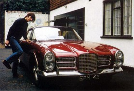 Richard Starkey AKA Ringo Starr, contemplates a ride in his Facel Vega
