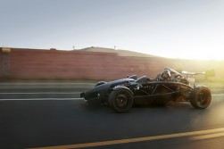 Darth Vader, meanwhile, in an Ariel Atom