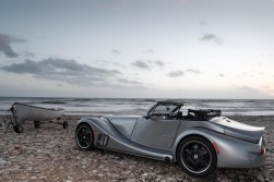 The supersports roadster evokes a silver-arrow like retro futurism