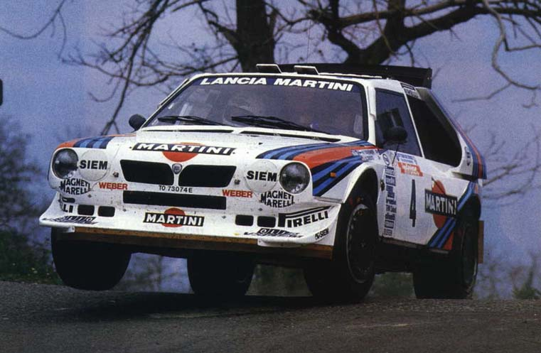 Henri Toivonen, ready for take off in his Lancia