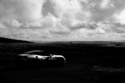 Nurburgring silver paint is set off nicely with carbon black roof and dark alloys. Moody as the hills.