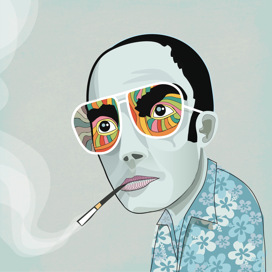 hunter_s_thompson_by_curtlivingston-1