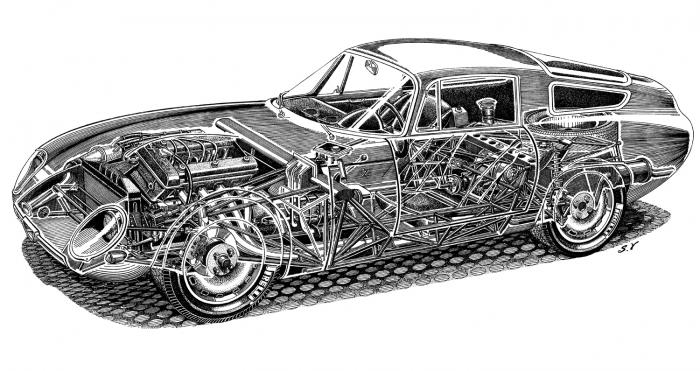 The nitty gritty of the spaceframe and other lightweight tech.