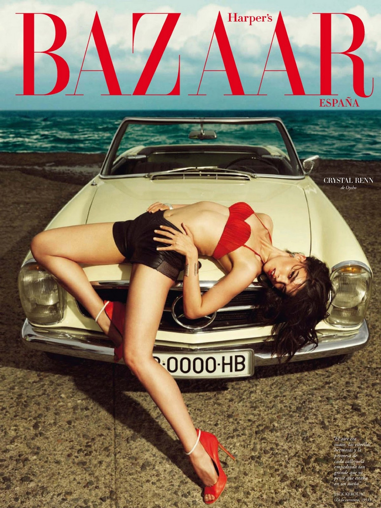 Crystal Renn takes the art of 'the drape' to the level higher than next level....