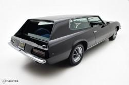 Rear 3/4 evokes a racing hearse, Addams family style ...