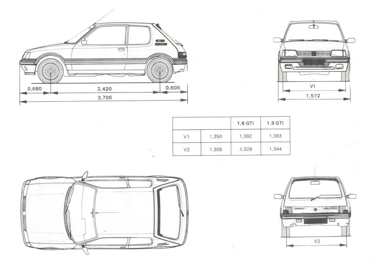 Peugeot-205-Blueprint