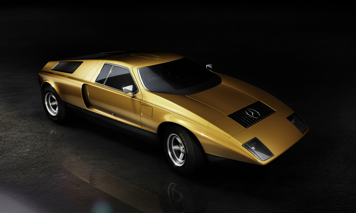 influx feature mercedes c 111 concept car 1970s. Black Bedroom Furniture Sets. Home Design Ideas
