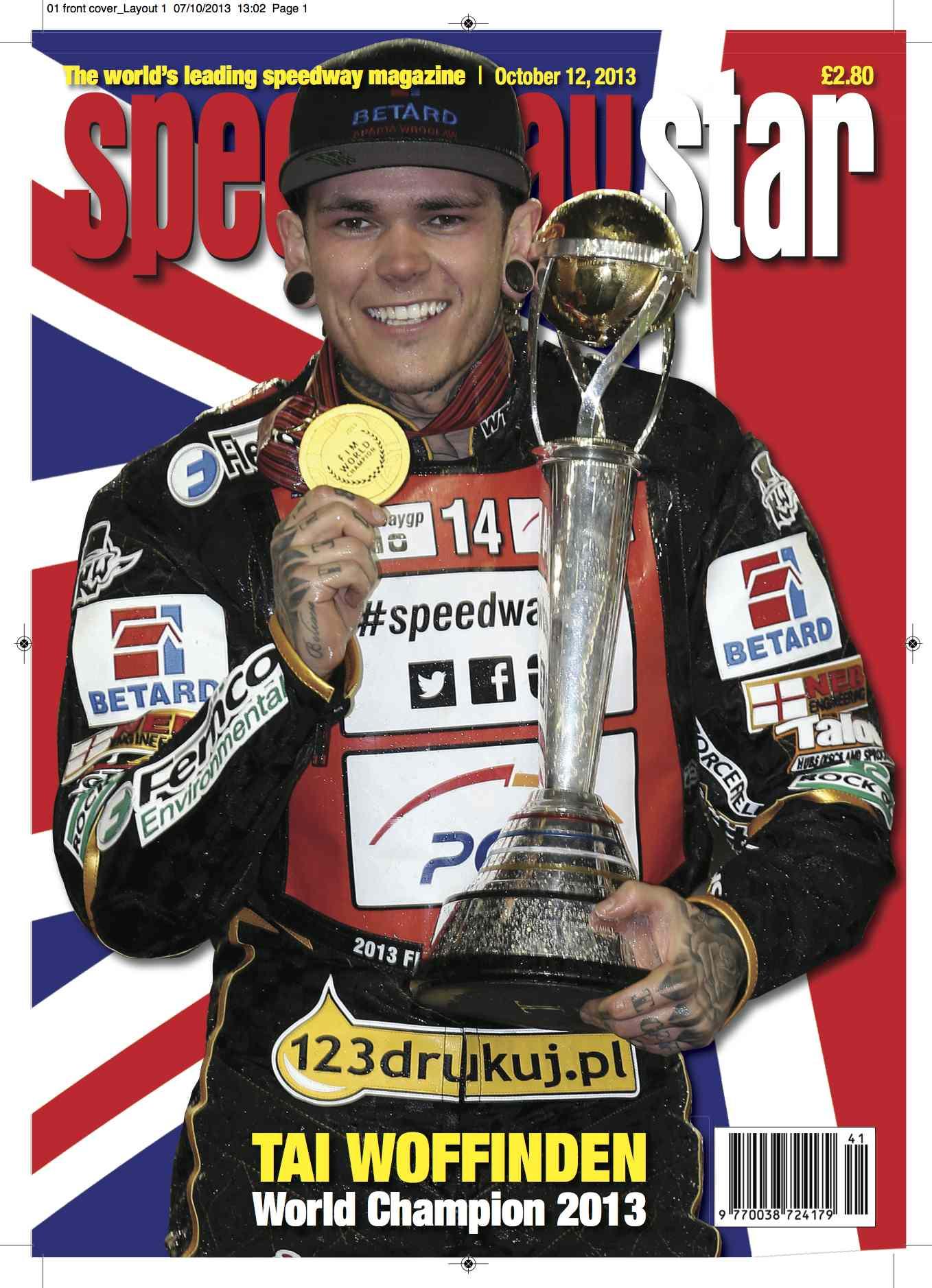 Speedway Star Tai Woffinden Cover