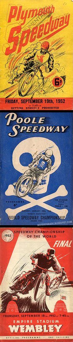 Vintage Speedway Programmes