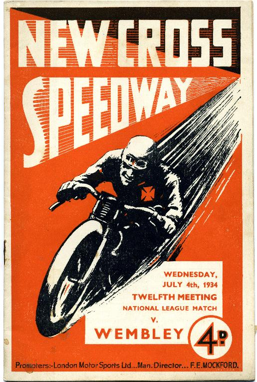 New Cross Speedway Poster