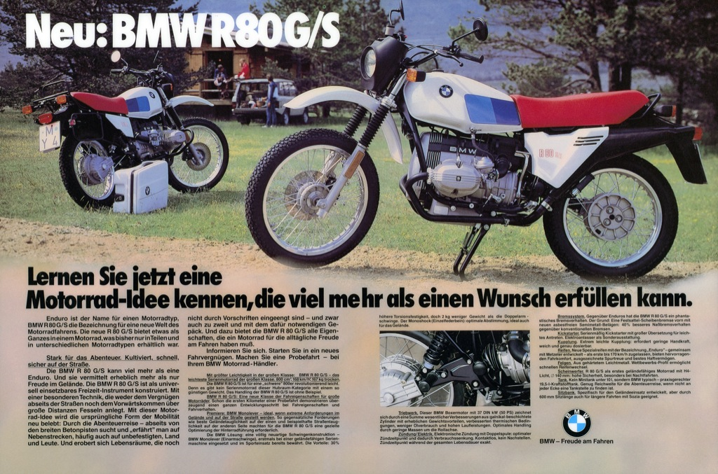 "Advertising motif ""New: BMW R 80 G/S (03/2010)"""