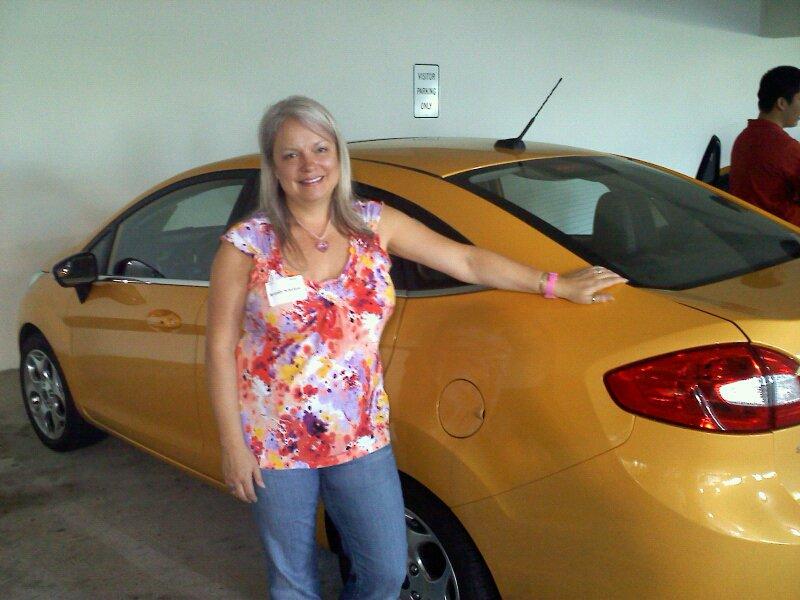 Brandy with her Fiesta sedan