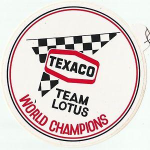 Tecaco world champions Lotus fittipaldi
