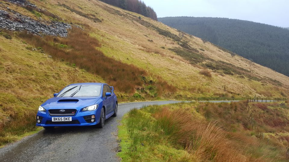 WRX STi in mountains
