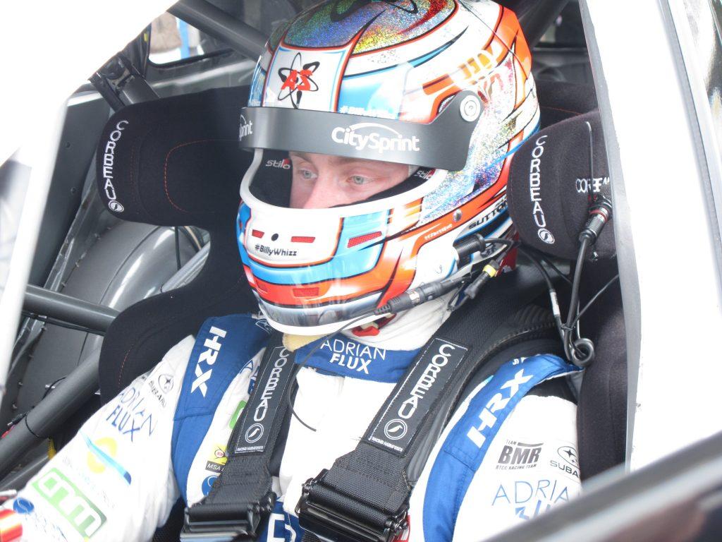 Sutton in car