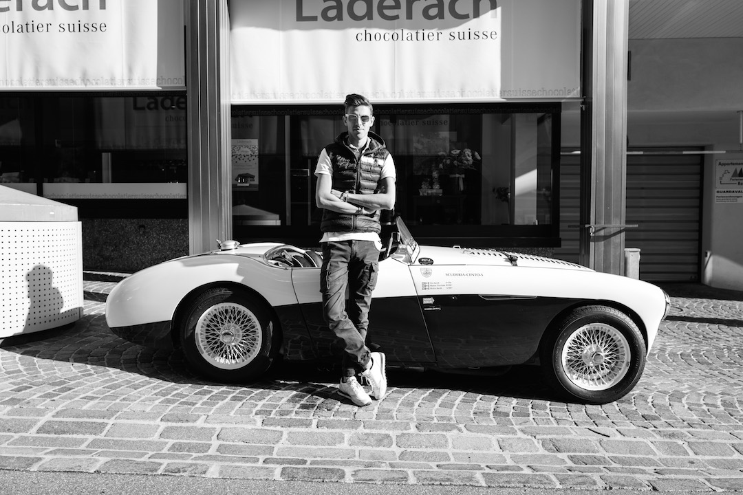 Luca with British Healey