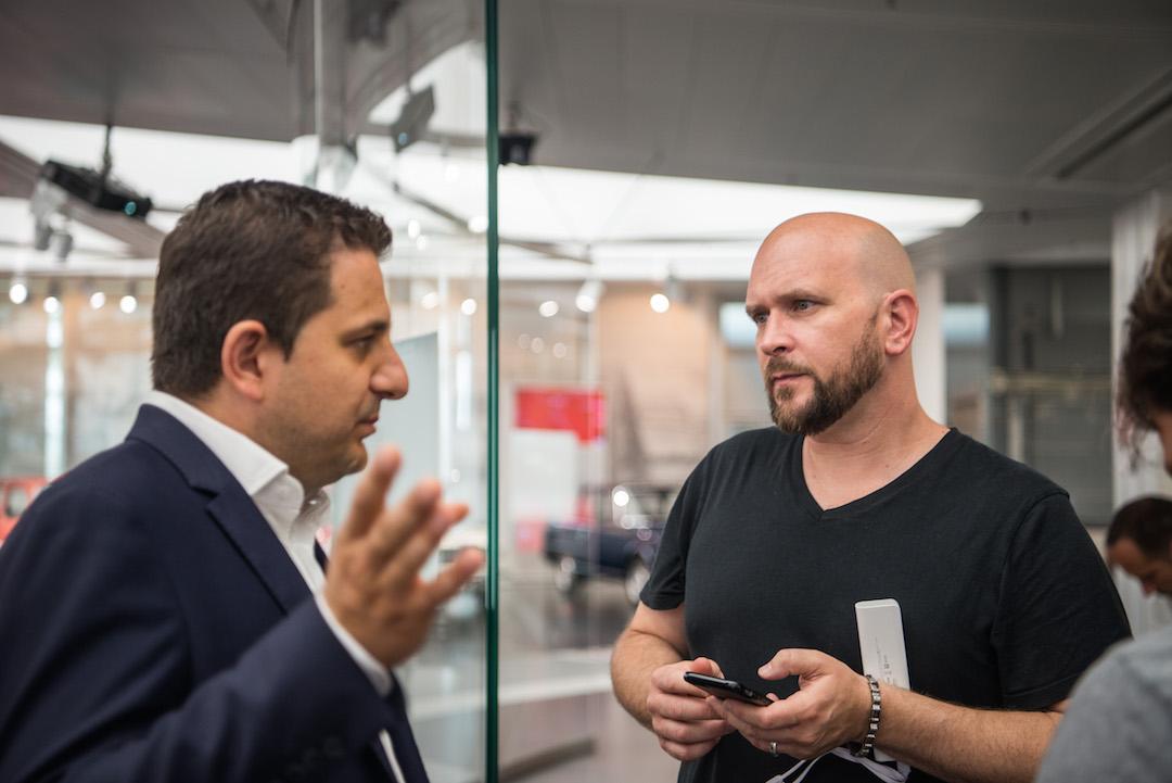 Museum curator, Lorenzo Ardizio speaks to Tim