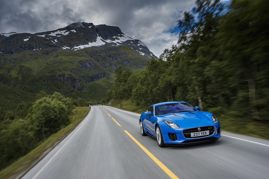 Jaguar F-Type mountain