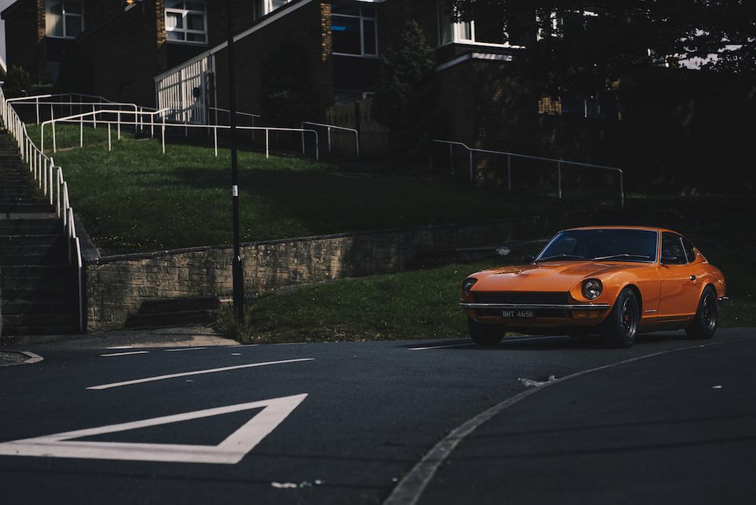 Datsun 250z on road