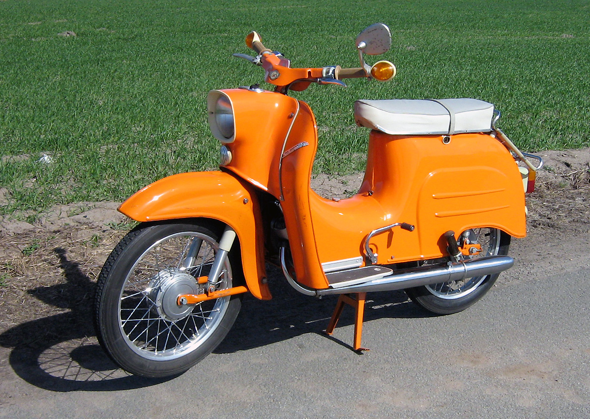 A Simson Schwalbe KR51 scooter