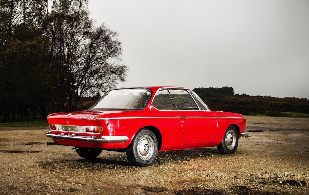 red BMW CS