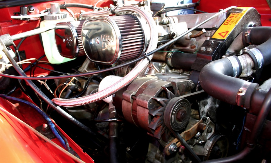 Lotus 907 engine in a Jensen