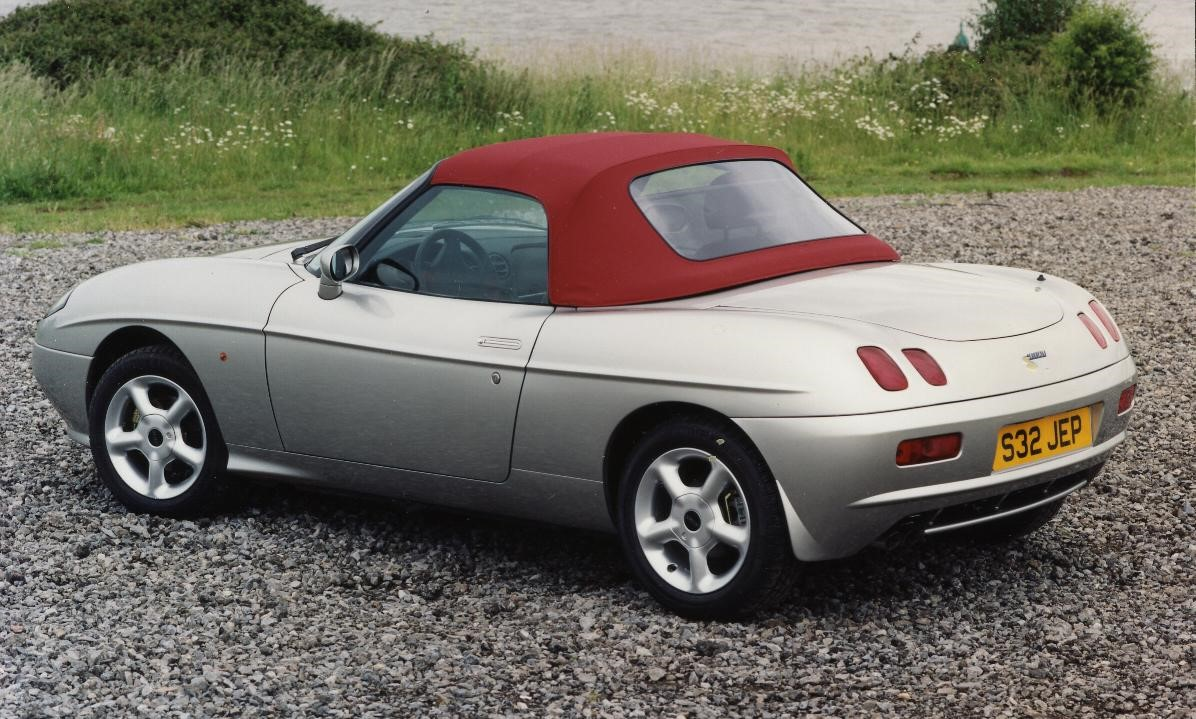 Barchetta with roof up