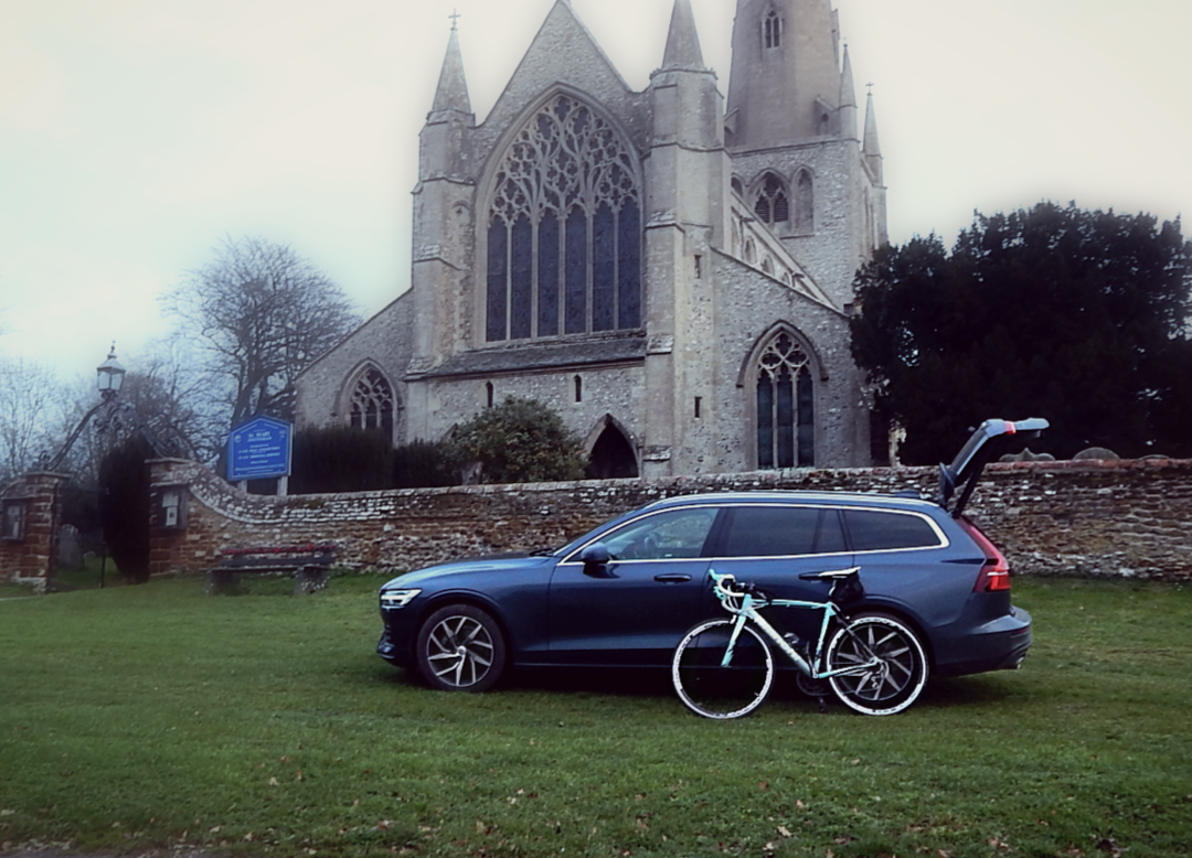 Volvo V60 with bike