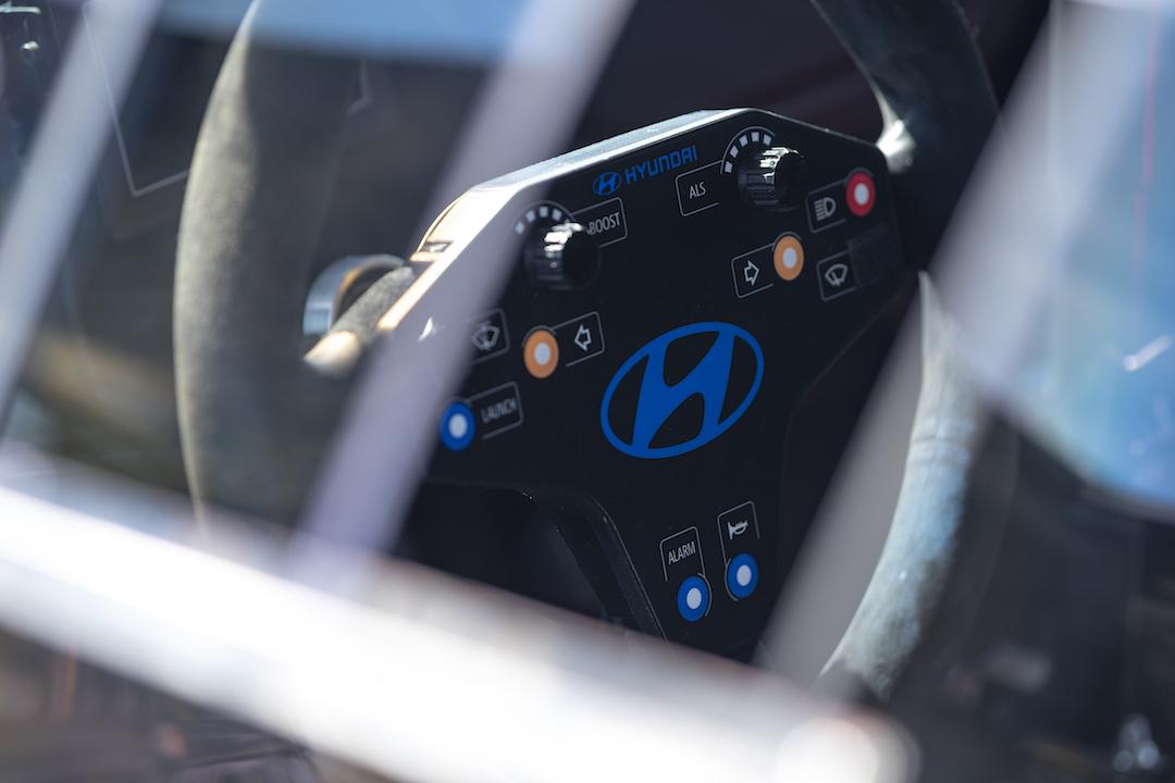 Hyundai rally car steering wheel