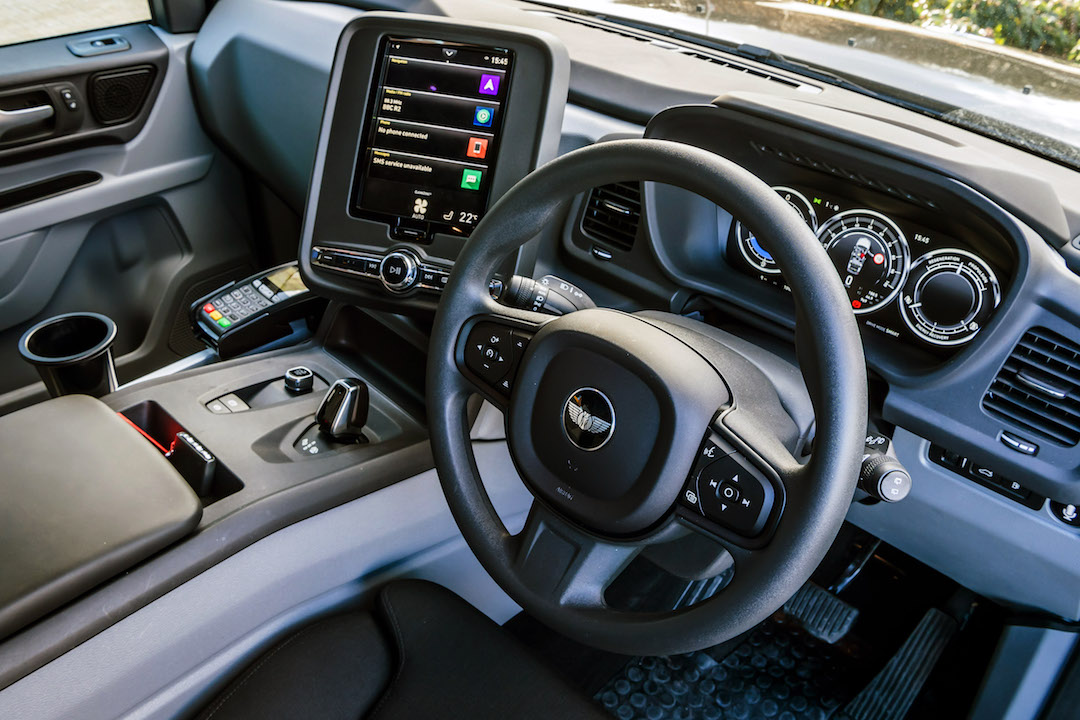 new taxi interior